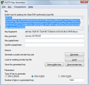 generate ssh key putty windows
