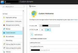 Setting up custom domains in Azure with CloudFlare - Peter